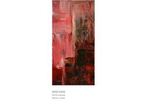 Acrylic Paintings - Rose Rain