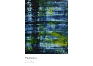 Abstract Painting by Nicola Beattie - Rain Shimmer