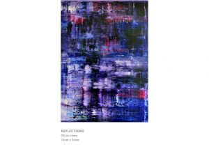 Abstract Painting by Nicola Beattie - Reflections