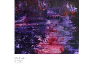 Modern Art by Nicola Beattie - Purple Lake