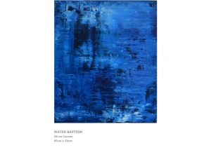 Abstract Painting by Nicola Beattie - Water Baptism