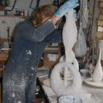 Sculptures by Nicola Beattie - Working on Grace and Truth