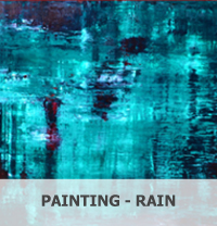 Portal to Abstract Painting by Nicola Beattie - Rain